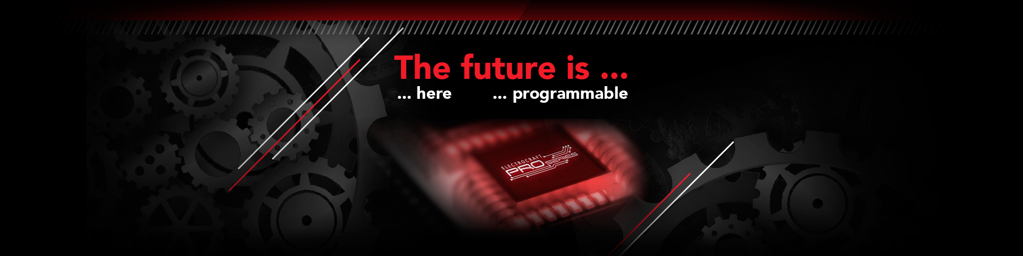 The future is here and programmable. Programmable PRO Series drives.