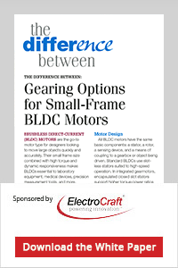 Machine Design Gearing Options for Small Frame BLDC Motors